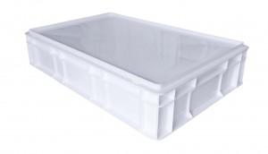 Caisse alimentaire C4 Blanc avec couvercle