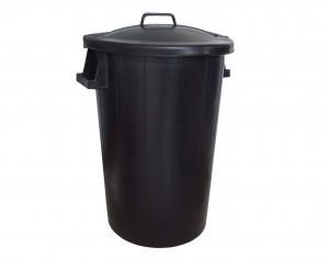 Poubelle 100L noir