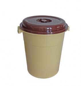 Poubelle 40L couleur marron