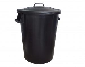 Poubelle 80L noir