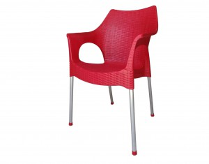 Fauteuil Rotin rouge