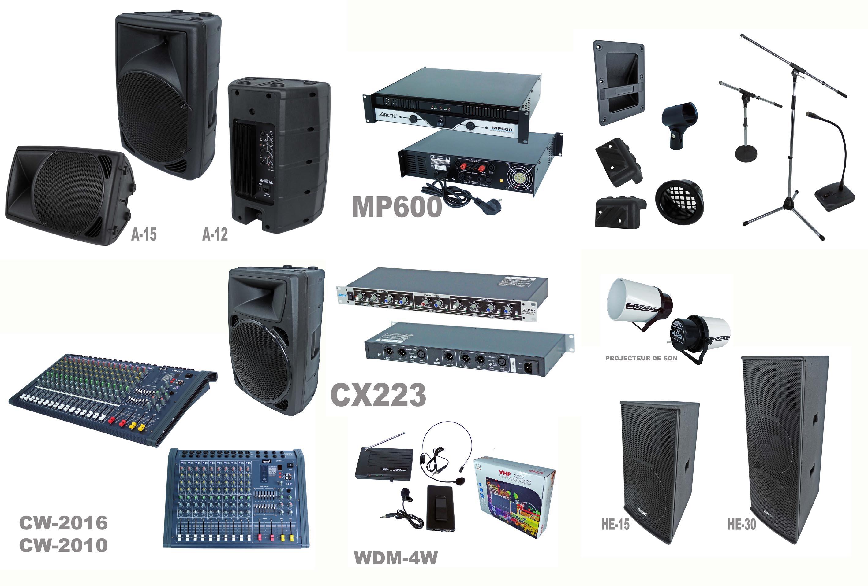 Matériels acoustiques de sonorisation
