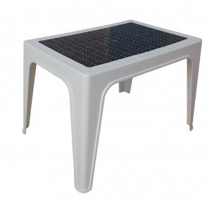 Table basse décorée blanc