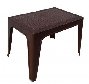 Table basse décorée marron