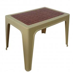 Table basse décorée beige
