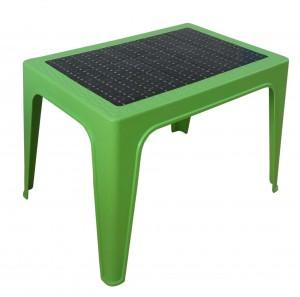Table basse décorée vert