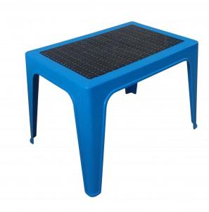 Table basse décorée bleu