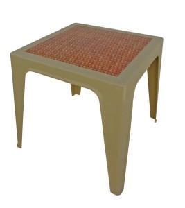 Table Monobloc 60x60x60 beige