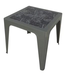 Table Monobloc 60x60x60 gris