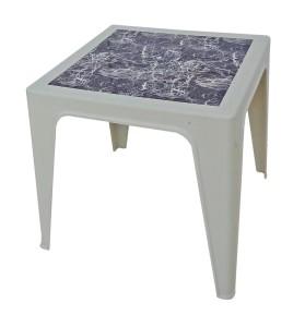 Table Monobloc 60x60x60 blanc